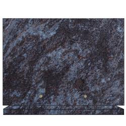 PLAQUE FUNÉRAIRE 25X35 GRANIT MASS BLUE SUR SOCLE