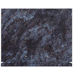 PLAQUE FUNÉRAIRE 30X40 SUR SOCLE GRANIT MASS BLUE