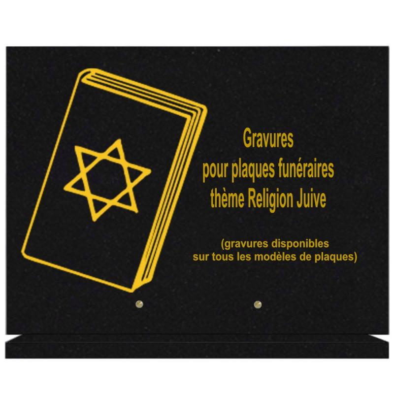 PLAQUE FUNÉRAIRE 30X40 SUR SOCLE GRANIT RELIGIONS