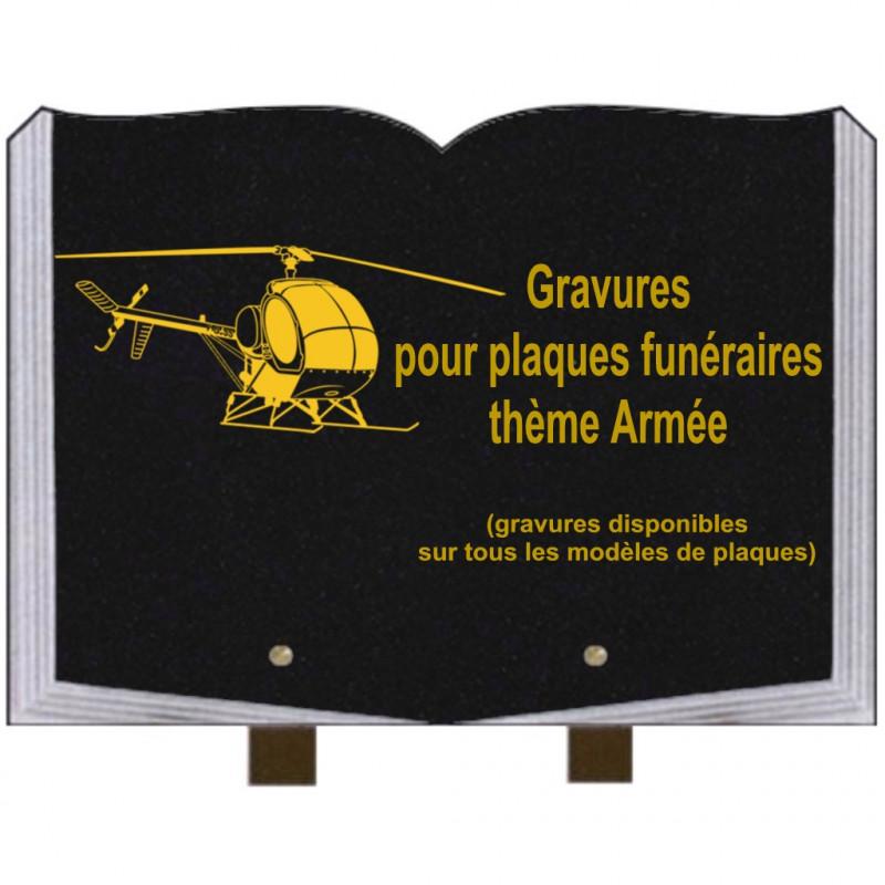 PLAQUE FUNÉRAIRE 25X35 LIVRE GRAVURES AVIONS AVIATION SUR PIEDS