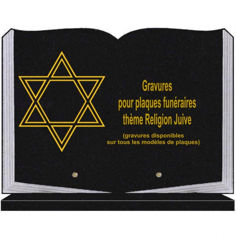 PLAQUE FUNÉRAIRE 25X35 LIVRE SOCLE RELIGIONS