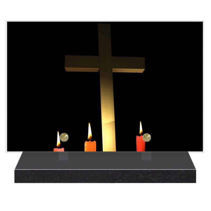 PLAQUE FUNÉRAIRE RELIGION CHRÉTIENNE 20 cm X 30 cm FPF6417