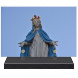 PLAQUE FUNÉRAIRE RELIGION VIERGE MARIE 20 cm X 30 cm FPF6420