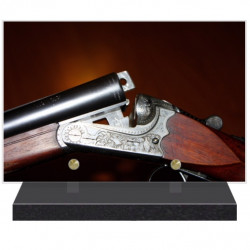PLAQUE FUNÉRAIRE CHASSE FUSIL 20 cm X 30 cm FPF8018