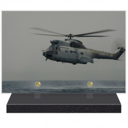 PLAQUE FUNÉRAIRE HELICOPTERE AVIATION 20 cm X 30 cm FPF9031