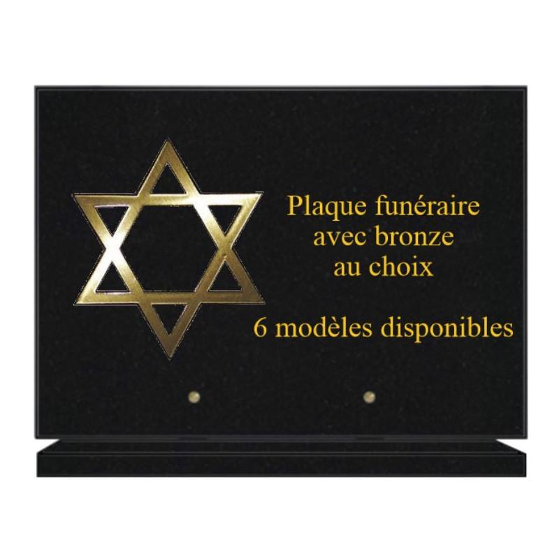 PLAQUE FUNÉRAIRE 25X35 AVEC BRONZE RELIGIONS