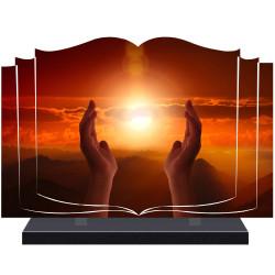 PLAQUE FUNÉRAIRE LIVRE RELIGION A PERSONNALISER FPF6424