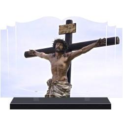 PLAQUE FUNÉRAIRE LIVRE RELIGION CHRIST A PERSONNALISER FPF6425