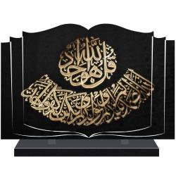 PLAQUE FUNÉRAIRE LIVRE RELIGION ISLAM A PERSONNALISER FPF6433
