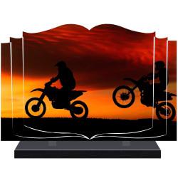 PLAQUE FUNÉRAIRE LIVRE MOTOS MOTARDS A PERSONNALISER FPF6523