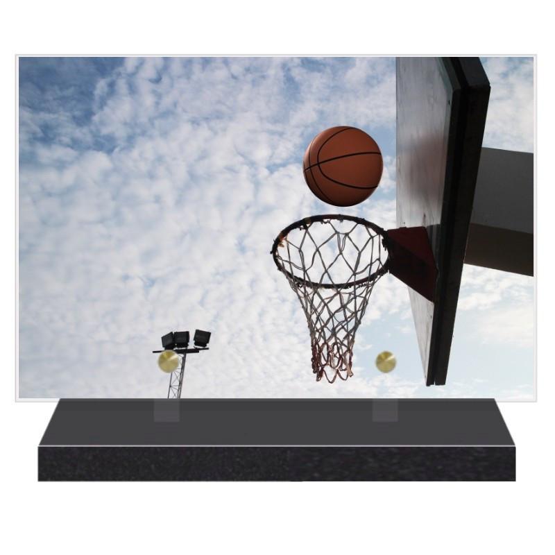 PLAQUE FUNÉRAIRE LOISIRS BASKET BALL 20 cm X 30 cm FPF10713