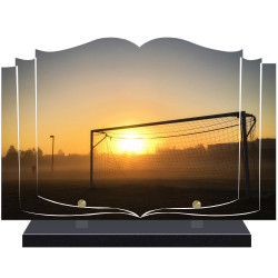 PLAQUE FUNÉRAIRE LIVRE FOOTBALL  A PERSONNALISER FPF10164