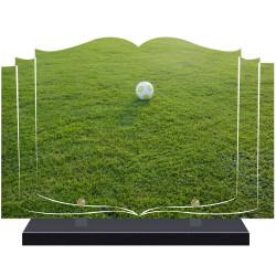 PLAQUE FUNÉRAIRE LIVRE FOOTBALL  A PERSONNALISER FPF10172