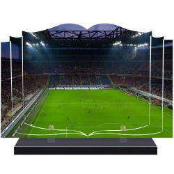 PLAQUE FUNÉRAIRE LIVRE FOOTBALL  A PERSONNALISER FPF10173