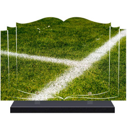 PLAQUE FUNÉRAIRE LIVRE FOOTBALL  A PERSONNALISER FPF10174