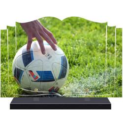 PLAQUE FUNÉRAIRE LIVRE FOOTBALL  A PERSONNALISER FPF10175