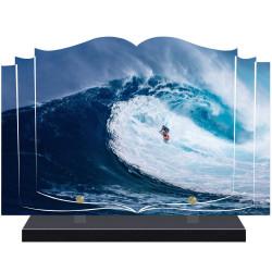 PLAQUE FUNÉRAIRE LIVRE SURF A PERSONNALISER FPF10583