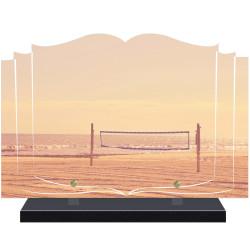 PLAQUE FUNÉRAIRE LIVRE BEACH VOLLEY A PERSONNALISER FPF10721