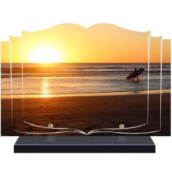 PLAQUE FUNÉRAIRE LIVRE SURF A PERSONNALISER FPF10972