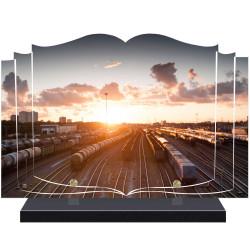 PLAQUE FUNÉRAIRE TRAIN LIVRE A PERSONNALISER FPFNX068