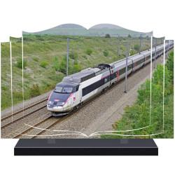 PLAQUE FUNÉRAIRE TRAIN TGV LIVRE A PERSONNALISER FPFNX151