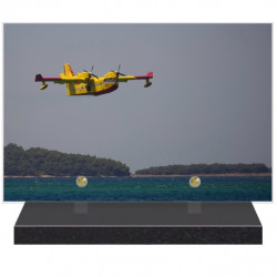 PLAQUE FUNÉRAIRE CANADAIR AVIATION CIVILE 20 cm X 30 cm FPFNX080