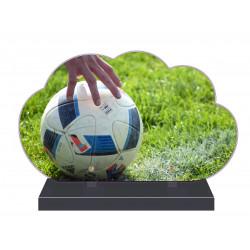 PLAQUE FUNÉRAIRE NUAGE 35 cm X 21 cm FOOTBALL FOOTBALLEUR FPF10175