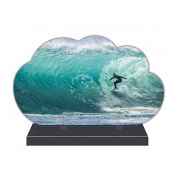 PLAQUE FUNÉRAIRE NUAGE 35 cm X 21 cm SURF SURFEUR FPF10970