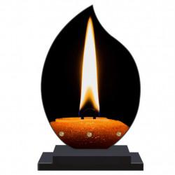 PLAQUE FUNÉRAIRE FLAMME BOUGIES 22 cm X 32 cm FPF5003