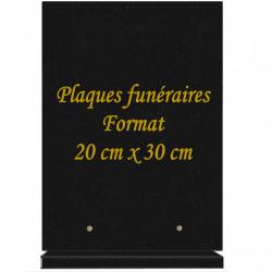 PLAQUE FUNÉRAIRE PORTRAIT 30X20 GRANIT SUR SOCLE