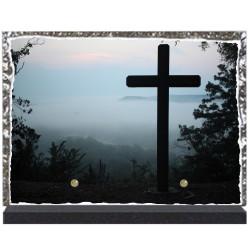 funéraire lave émaillée 28x20 Religion personnalisable LE00114