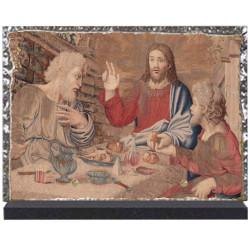 Plaque funéraire lave émaillée Religion Christ LE00117