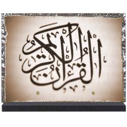 Plaque funéraire lave émaillée Religion Musulmane LE00120