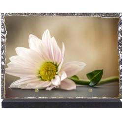 Plaque funéraire lave émaillée Fleurs LE00099