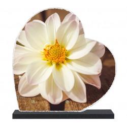 Plaque funéraire Coeur lave émaillée Nature Fleurs LE00141