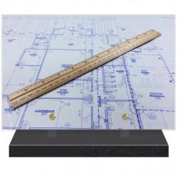 PLAQUE FUNÉRAIRE MÉTIER ARCHITECTE 20 cm X 30 cm FPFNX163