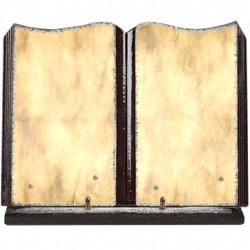 Plaque funéraire grand livre lave émaillée Parchemin FPFLE00109