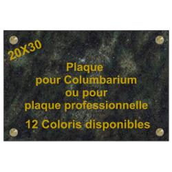 PLAQUE FUNÉRAIRE CAVURNE - COLUBARIUM 20X30 GRANIT