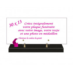 PLAQUE FUNÉRAIRE PAYSAGE 30 cm X 13 cm ACF0701