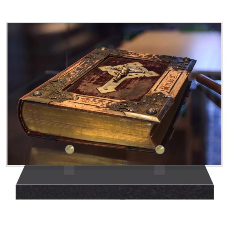 PLAQUE FUNÉRAIRE RELIGION BIBLE 20 cm X 30 cm FPFW00617