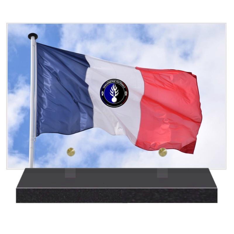 PLAQUE FUNÉRAIRE GENDARMERIE NATIONALE 20 cm X 30 cm FPFNX160-4