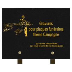 PLAQUE FUNÉRAIRE 20X30 GRANIT CAMPAGNE SUR PIEDS