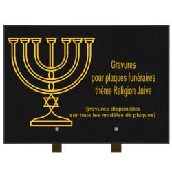 PLAQUE FUNÉRAIRE 25X35 RELIGIONS GRANIT SUR PIEDS