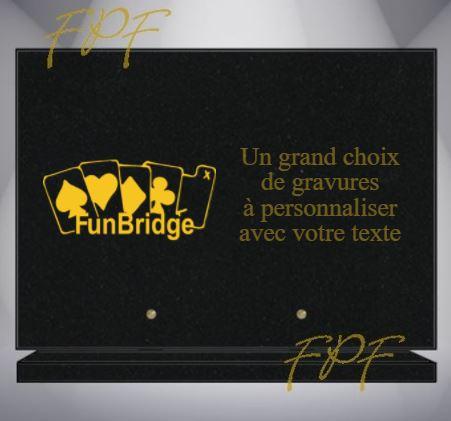 PLAQUE FUNÉRAIRE BRIDGE