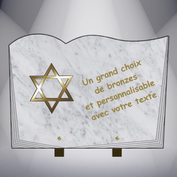 plaque funéraire granit personnalisable pas cher AVEC BRONZE RELIGION