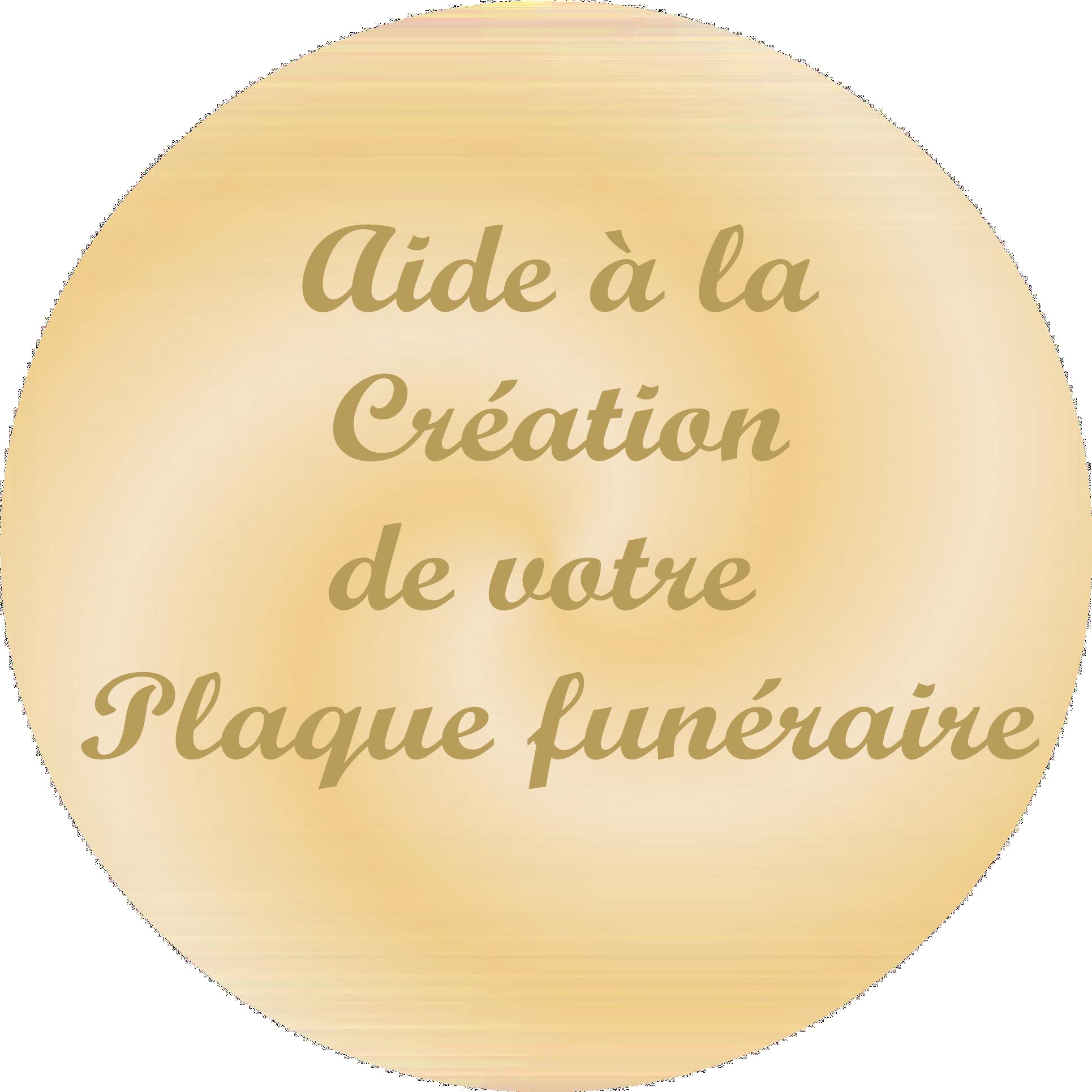aide a la création de plaques funéraires personnalisées