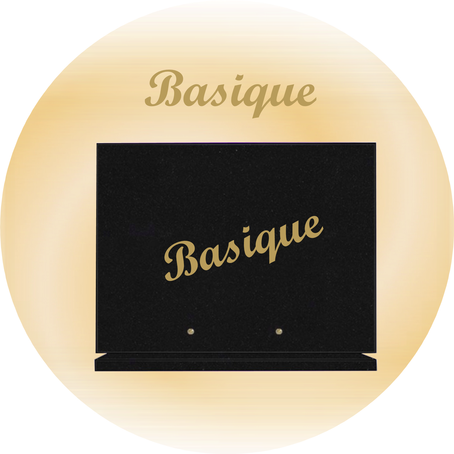 Forme basique plaques funeraires rectangle