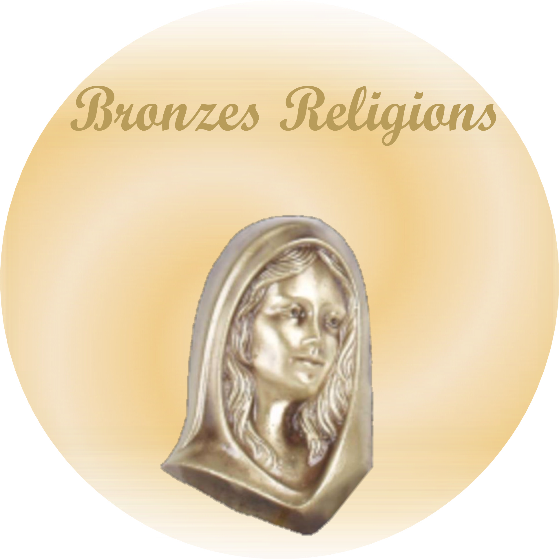 Bronzes Religions pour plaques funeraires