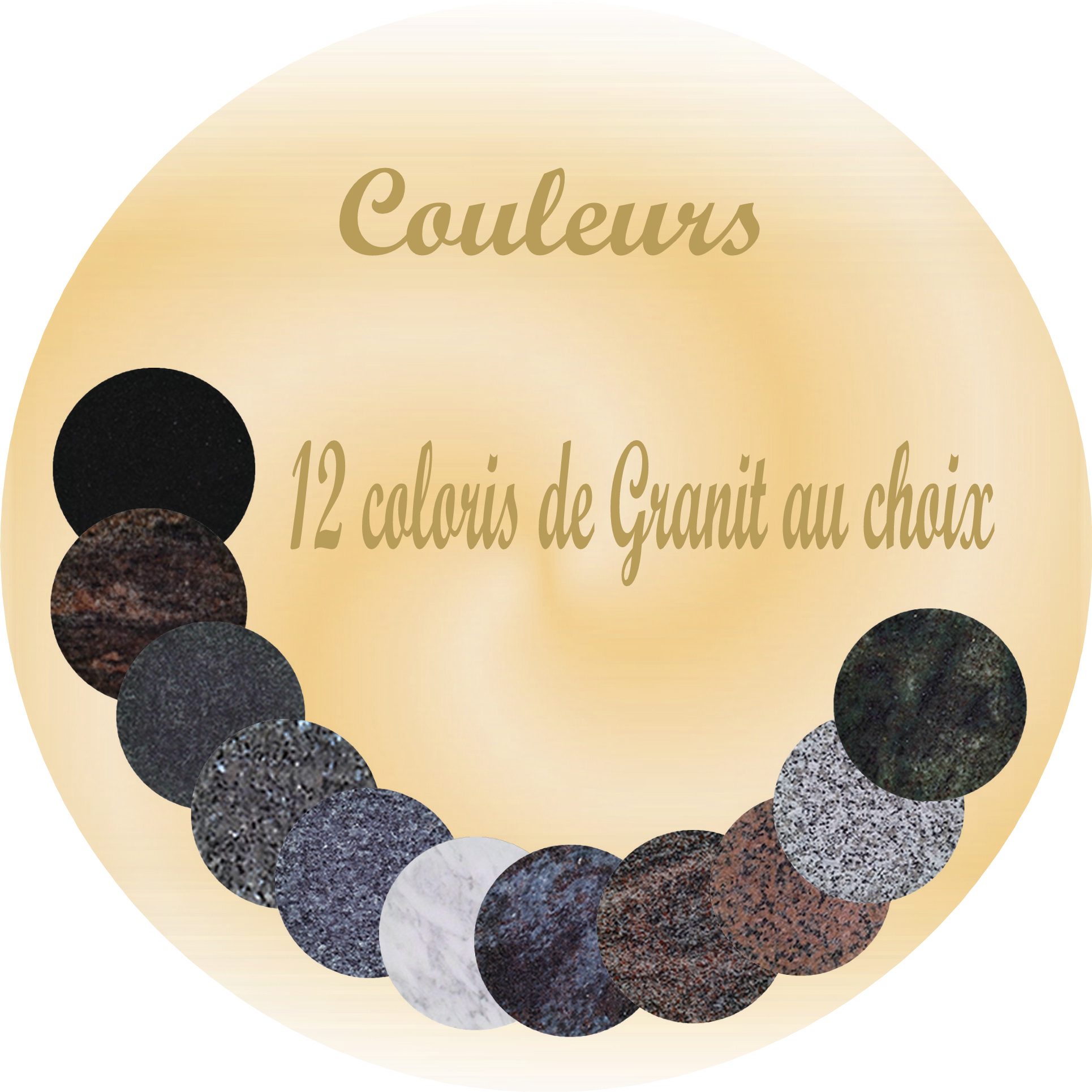 plaque funeraire granit 12 coloris SENTILLY