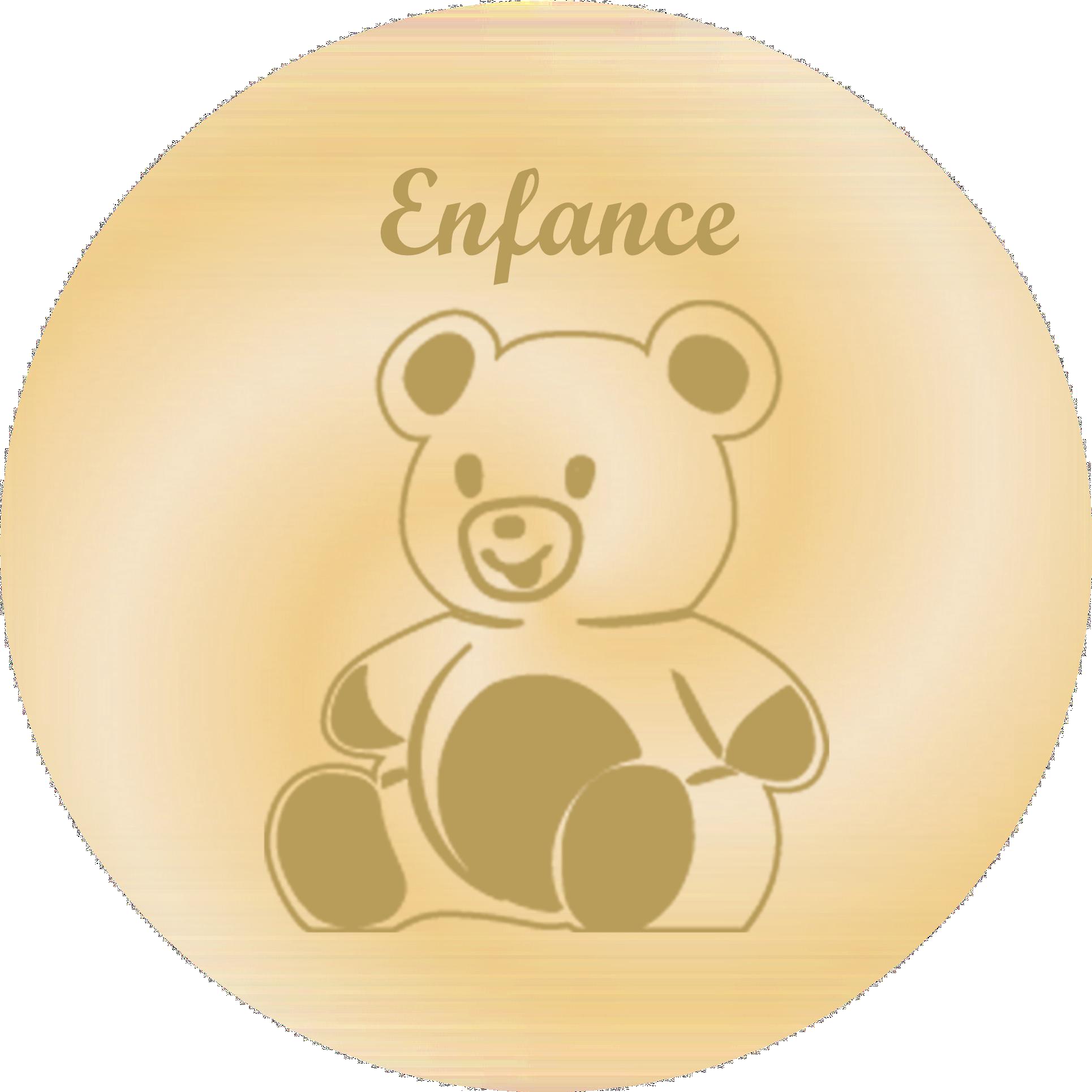 Enfance - Plaques funéraires gravées or
